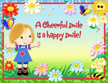 A cheerful smile is a happy smile_poster
