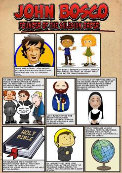 A comic biography on the life of St John Bosco