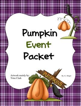 A fun filled Pumpkin Party Event Packet