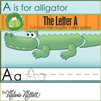 A is for Alligator File Folder Game