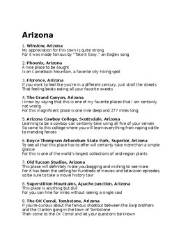 A is for Arizona State Facts