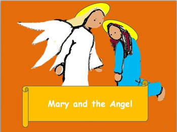 A modern carol for Christmas. The angel appears to Mary. S