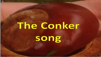 """A song for autumn."""" I've got a conker with tambourine part"""