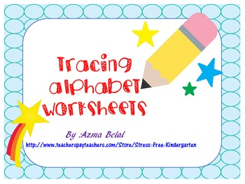 A to Z Alphabet Tracing Sheets