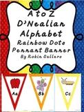 A to Z D'Nealian Alphabet Bunting Pennant Banner Classroom