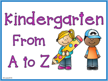 Kindergarten Writing Beginning of the Year A to Z Class N