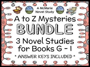 A to Z Mysteries BUNDLE : 3 Novel Studies for Books G - I