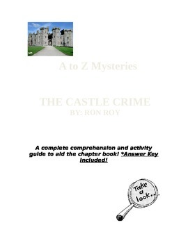 A to Z Mysteries-The Castle Crime COMPLETE Comprehension G