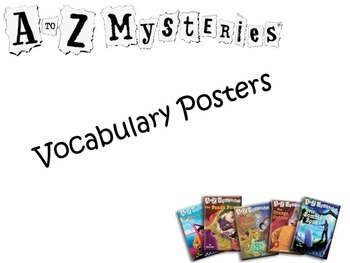 A to Z Mysteries Vocabulary Poster Pack