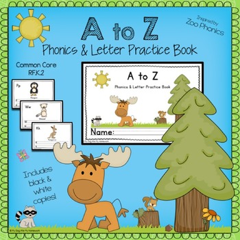 A to Z Phonics & Letter Handwriting Book ( Zoo Phonics Inspired)