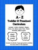A to Z Toddler and Preschool Curriculum sample A - D