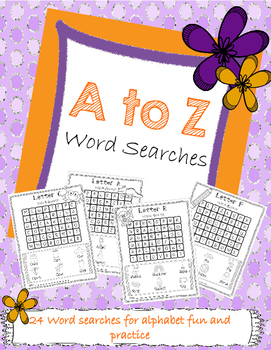 A to Z Word Search Pack - ABC Practice!