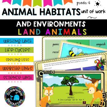 Year 4-Animal Themed Cross Curricular Unit
