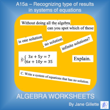 A15 Recognizing types of results in systems of equations