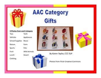 AAC Category Gifts, Proloquo2go, Augmentative Communicatio