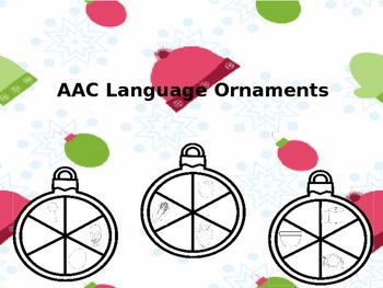 AAC Core Vocabulary: Holiday Language Ornaments