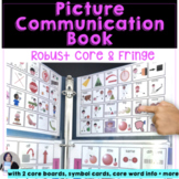 AAC Picture Communication Book with Core and Fringe Vocabulary