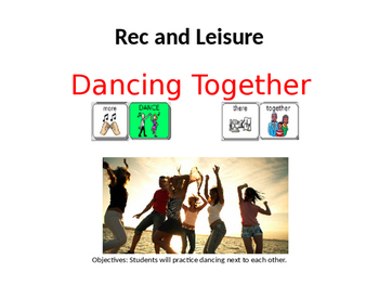 AAC Social Group Lesson: Dancing. Includes Video Models