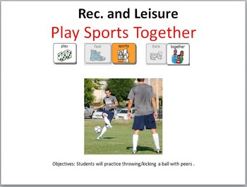 AAC Soical Group Lesson (Playing Sports) Includes Video Models