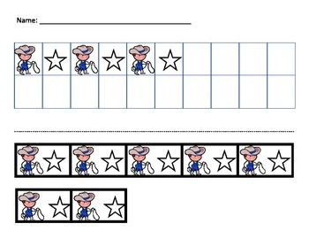 AB Pattern Cut and Paste Texas Theme
