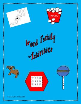 AB-UT WORD FAMILY ACTIVITIES