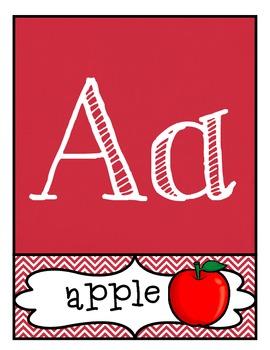 ABC 123 Classroom Labels, Fancy Block Letters