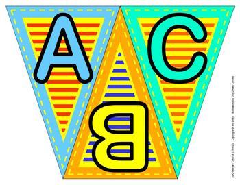 ABC, 123 Pennants Stripes