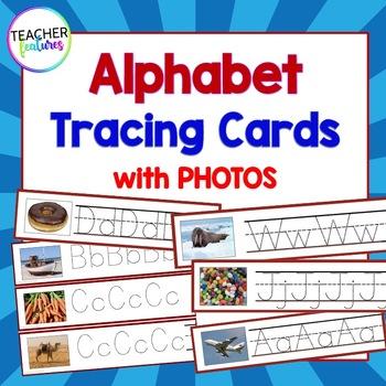 Alphabet Tracing Cards with Photos
