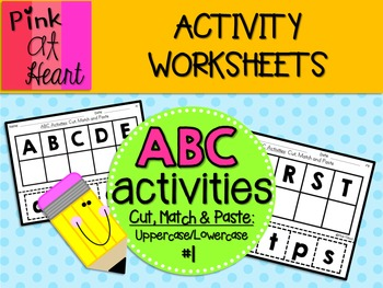 ABC Activities 1: Cut, Match and Paste - Uppercase/Lowercase