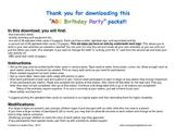 ABC Activity Birthday Party packet
