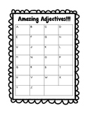 ABC Adjective Graphic Organizer