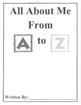 ABC All About Me Book