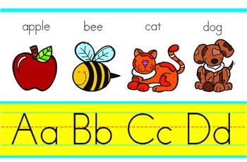Classroom Decoration ABC Alphabet  Banner sign