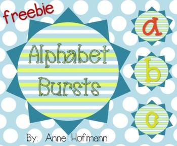 ABC Alphabet Bursts Decor  FREEBIE