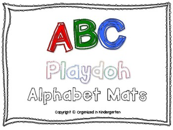 ABC Alphabet Playdoh Letter Mats