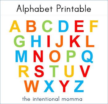 Abc Letters Printable - Laptuoso