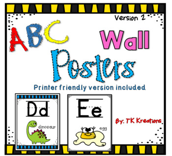 ABC Alphabet Wall Posters