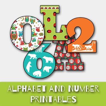 ABC Alphabet and Number Set - PDF File - Printable - DIY f