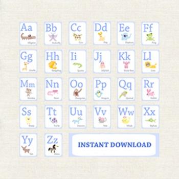 ABC Animal Letters. Alphabet Posters. Alphabet Classroom Decor