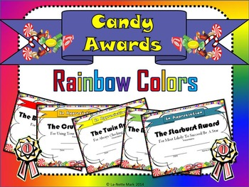 Candy Awards - Rainbow Colors