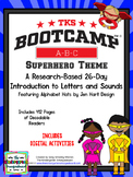 Superhero ABC BOOTCAMP & HATS! Editable 26 Day Introductio