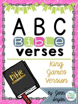 ABC Bible Verse Posters and Cards