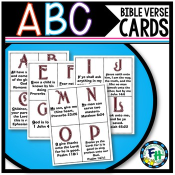 ABC Bible Verse Memory Cards