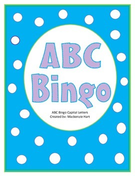 ABC Bingo cards - Uppercase letters