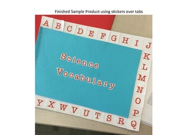 ABC Book Template with Tabs (For Vocabulary, Sight Words,