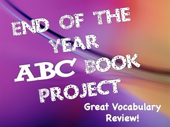 End Of Year ABC Book Template For Any Subject or Grade (Ru