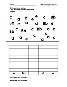ABC Bootcamp Letter Graphing