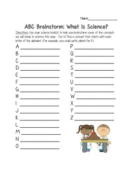 ABC Brainstorm: Introduction to Science