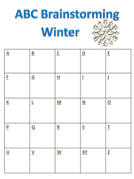 ABC Brainstorming Winter