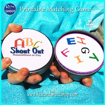 """ABC CAPITAL LETTERS Matching Game SHOUT OUT; 3"""" size; 31 p"""